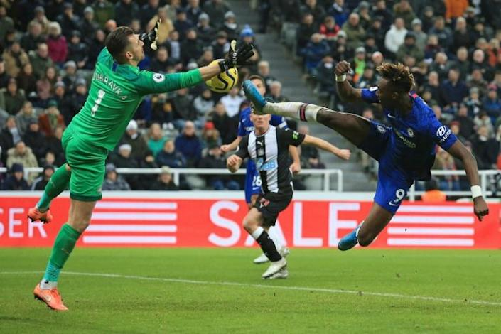 Chelsea striker Tammy Abraham was denied at Newcastle (AFP Photo/Lindsey Parnaby)