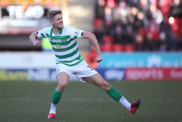 Kristoffer Ajer scored the winner against Aberdeen as Celtic remain 10 points clear at the top of the Ladbrokes Scottish Premiership (Jane Barlow/PA)