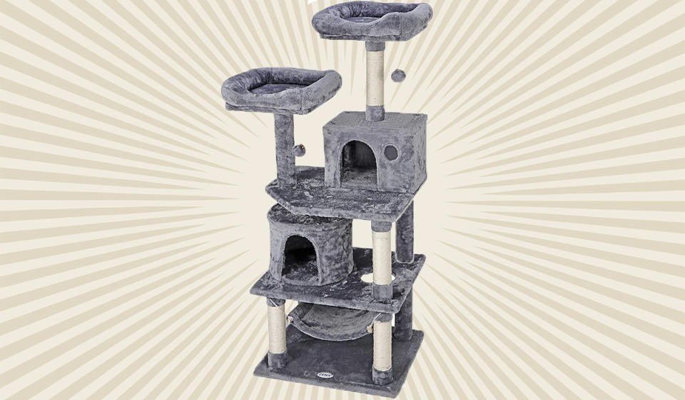 Ego Trip Alert: Your regally elevated kitty might start charging you rent if you get this for her. (Photo: Walmart)