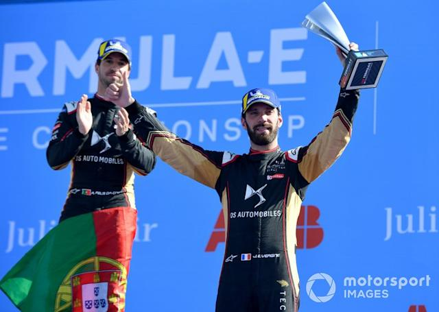"Podio: tercer lugar Jean-Eric Vergne, DS Techeetah <span class=""copyright"">Simon Galloway / Motorsport Images</span>"