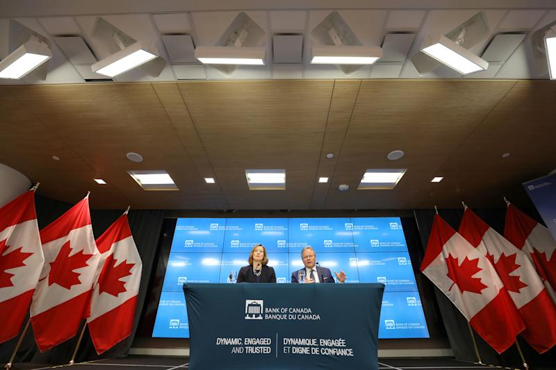 Bank of Canada Governor Stephen Poloz speaks during a news conference with Senior Deputy Governor Carolyn Wilkins in Ottawa, Ontario, Canada, July 10, 2019. REUTERS/Chris Wattie