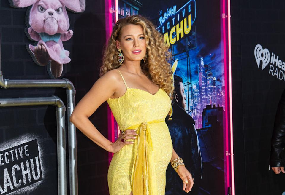 Blake Lively let her bump do her third pregnancy announcement (Getty)