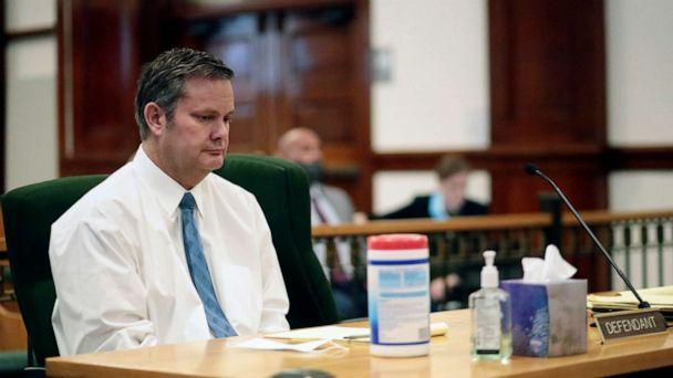 PHOTO:Chad Daybell listens during his preliminary hearing in St. Anthony, Idaho, Aug. 3, 2020. (John Roark/Post Register via AP)