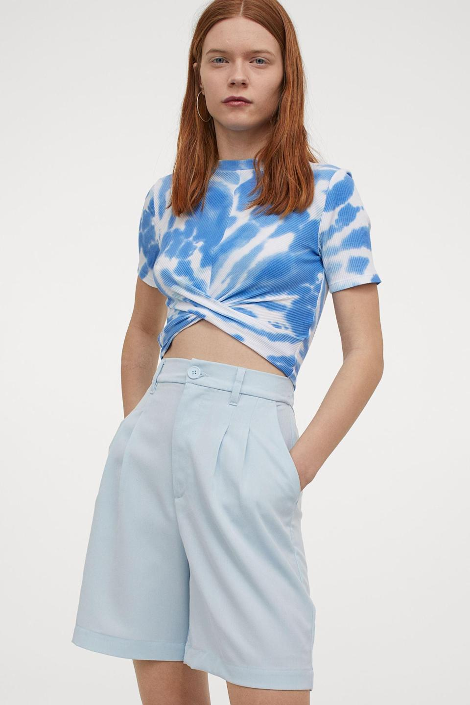 <p>These <span>Blue Bermuda Shorts</span> ($25) will look good with a t-shirt and some sneakers.</p>