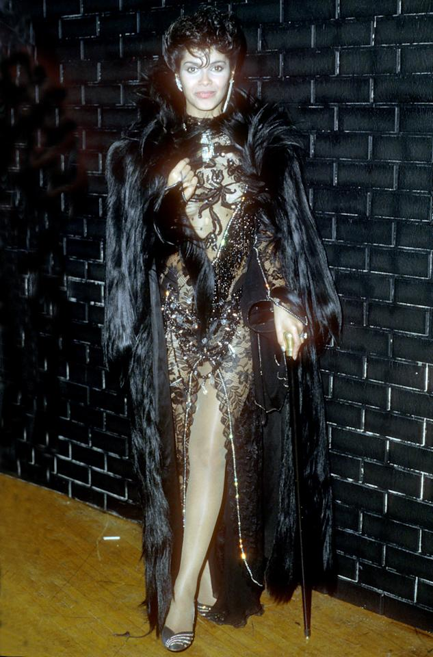 """<p>Denise Matthews, who was far better known by her stage name, Vanity, <a href=""""http://www.hollywoodreporter.com/news/vanity-dead-prince-discovery-dies-865763"""">died in February of this year</a> at age 57 from kidney failure (due to years of crack cocaine abuse). As a lead singer of Prince's girl group, Vanity 6, she styled herself as a sex vixen — she and Prince were also lovers — and was known for provocative songs like the 1982 dance-floor classic """"Nasty Girl."""" After Prince, she went through a number of rocker boyfriends, including Billy Idol, Adam Ant, and Motley Crue's Nikki Sixx, and developed the drug addiction that would lead to her death. </p><p><i>(Photo: Getty Images)</i></p>"""