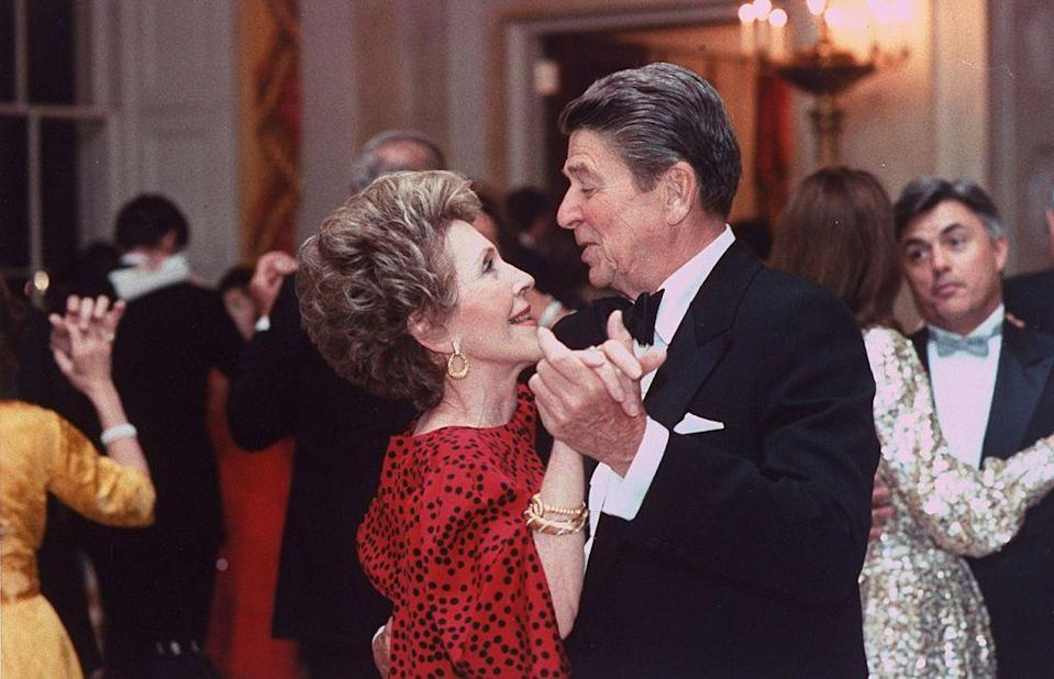 <p>The couple shared a dance during an event in the White House ballroom. </p>