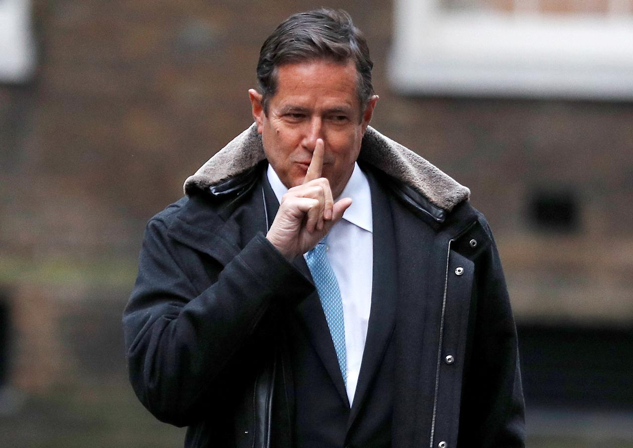 FILE PHOTO: Barclays' CEO Jes Staley arrives at 10 Downing Street in London, Britain January 11, 2018. REUTERS/Peter Nicholls/File Photo