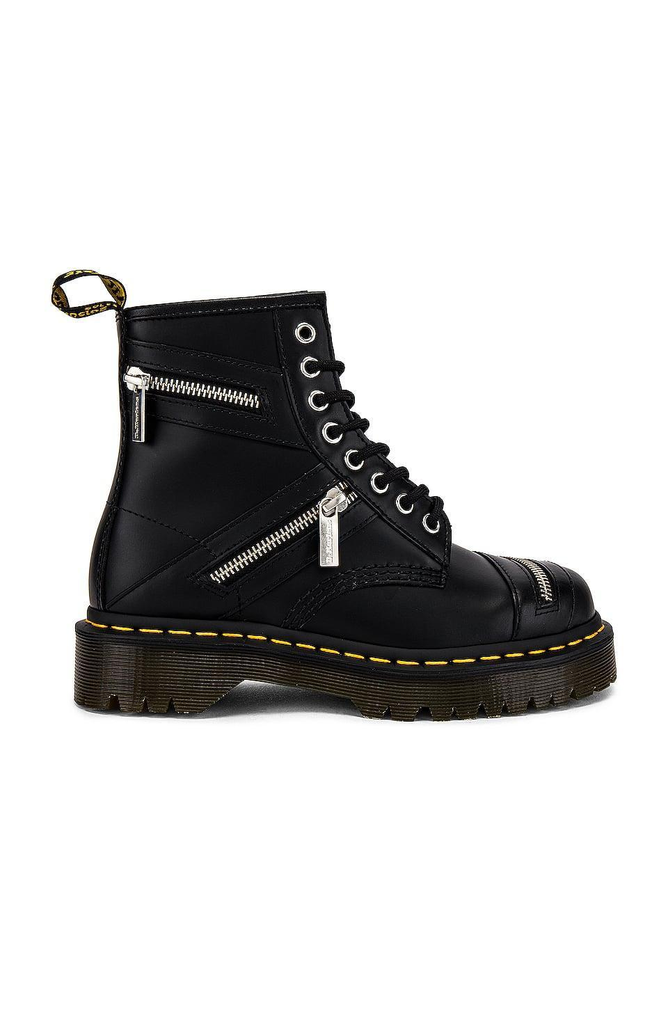 <p><span>Dr. Martens 1460 Bex Zip Smooth Boot</span> ($170)</p>