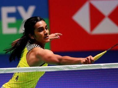 PV Sindhu in action at the All England Open. Image courtesy: BWF