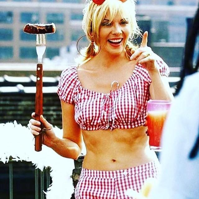 "<p>Samantha Jones, er, Kim Cattrall used an iconic <em>Sex and the City</em> outfit to wish her followers a happy Fourth of July. No complaints here! (Photo: <a href=""https://www.instagram.com/p/BWILpilABK8/"" rel=""nofollow noopener"" target=""_blank"" data-ylk=""slk:Kim Cattrall via Instagram"" class=""link rapid-noclick-resp"">Kim Cattrall via Instagram</a>)<br><br></p>"