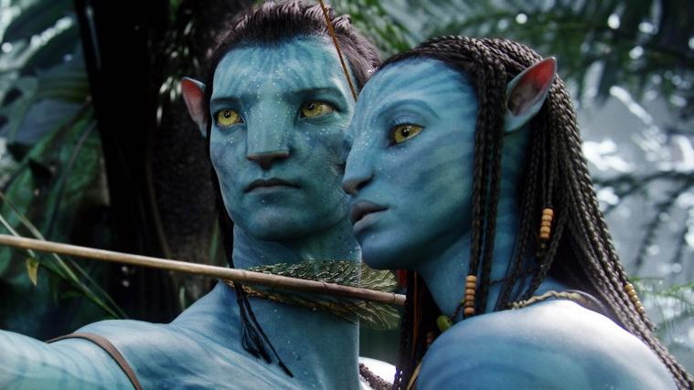 Sam Worthington and Zoe Saldana played the lead roles in James Cameron blockbuster 'Avatar'. (Credit: Fox)
