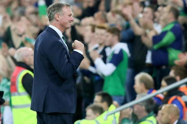 Michael O'Neill has been appointed Stoke's new manager, but will still take charge of Northern Ireland's Euro 2020 qualifiers this month (AFP Photo/Paul FAITH)