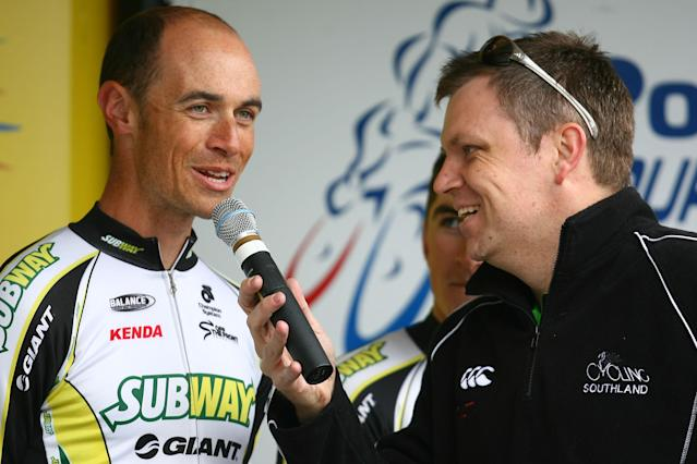 INVERCARGILL, NEW ZEALAND - OCTOBER 28: Westley Gough of Waipukarau talks to the media before the prologue stage of the Tour of Southland on October 28, 2012 in Invercargill, New Zealand. (Photo by Teaukura Moetaua/Getty Images)