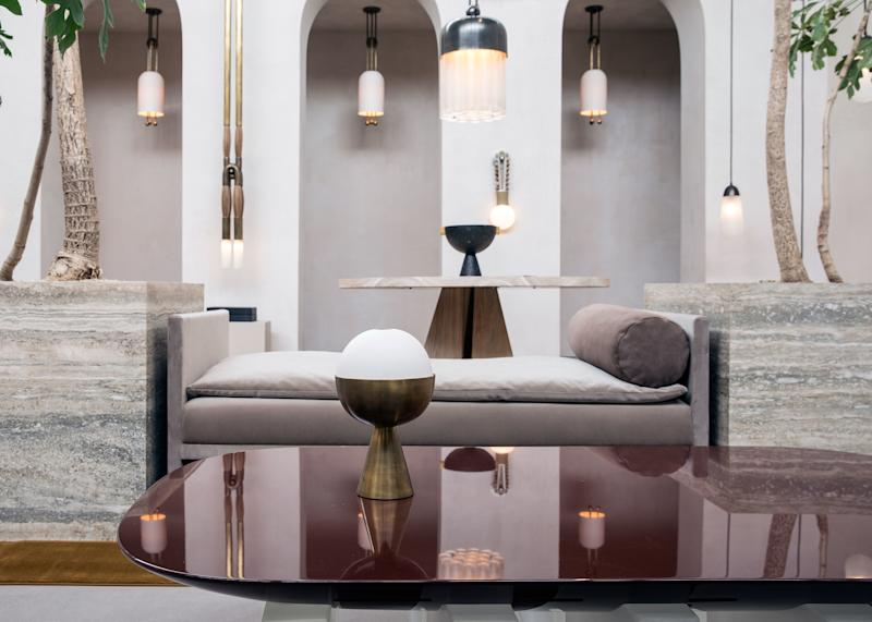 Apparatus' ethereal Los Angeles showroom was chockablock with spare, elegant lighting and furniture sympathetic to the designers' vision for Coster-Waldau's home.