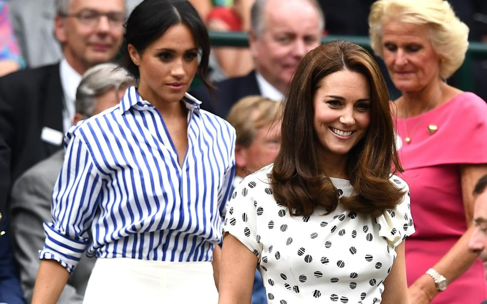 Meghan and Kate at Wimbledon in 2018 - Clive Mason/Getty Images Europe