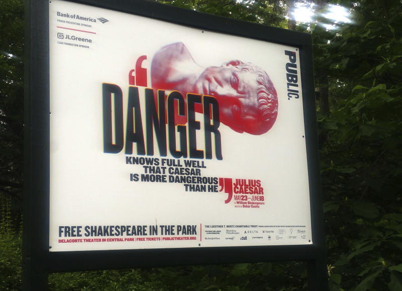 Woman who stormed stage during 'Julius Caesar' is arrested