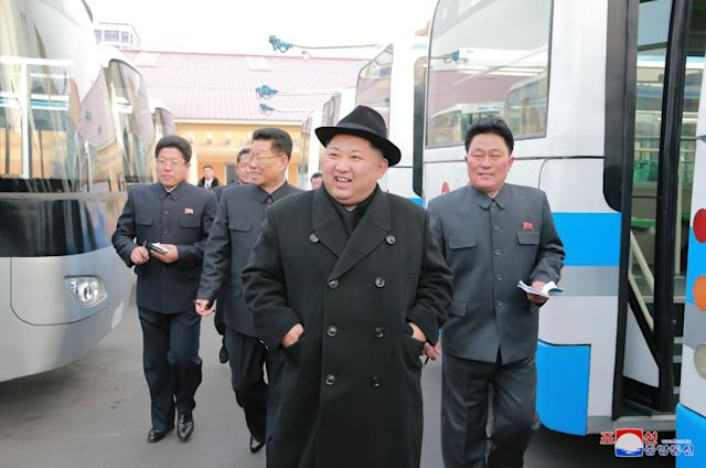North Korean leader Kim Jong-Un is seen in this undated photo released by North Korea's Korean Central News Agency (KCNA). (KCNA KCNA / Reuters)