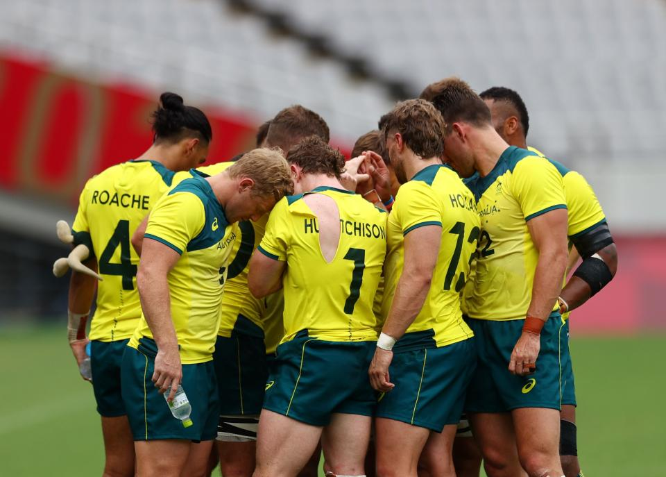 Australia's men's rugby team didn't medal. But it left its mark on Tokyo. (Reuters/Siphiwe Sibeko)
