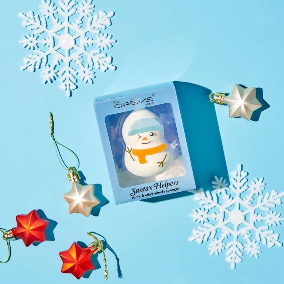 <p>The <span>Holiday Santa's Helpers Blending Sponge Snowman</span> ($4, originally $8) will help them blend their makeup flawlessly while also adding a festive touch to their vanity.</p>