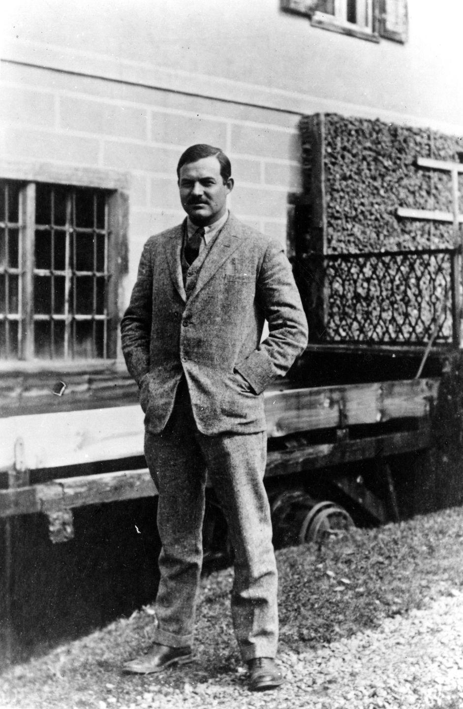 """<p>In 1922, Hemingway's career suffered a major setback when <a href=""""https://lostmanuscripts.com/2010/07/31/hemingways-lost-suitcase/"""" rel=""""nofollow noopener"""" target=""""_blank"""" data-ylk=""""slk:the manuscript he was working on"""" class=""""link rapid-noclick-resp"""">the manuscript he was working on</a>, and all of its carbon copies, were lost while traveling to Switzerland.</p>"""