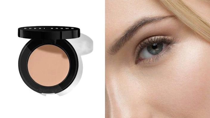 I even out my under-eye dark circles with the Bobbi Brown Under Eye Corrector.