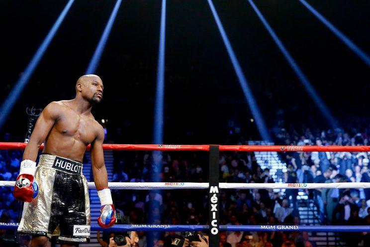 Floyd Mayweather in the ring.
