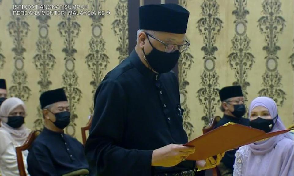 Ismail Sabri sworn in as 9th prime minister