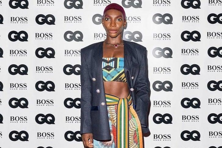 <p>Michaela Coel on the red carpet tonight</p> (GQ Men Of The Year Awards 2020 in association with Hugo Boss)