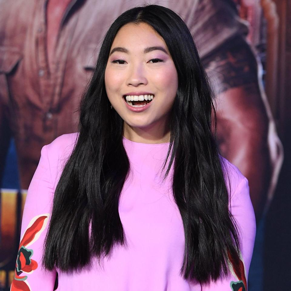 """""""Being blunt is 2020's good friend,"""" says Reyman about <a href=""""https://www.allure.com/story/awkwafina-interview-skin-care-products-la-mer-cleanser?mbid=synd_yahoo_rss"""" rel=""""nofollow noopener"""" target=""""_blank"""" data-ylk=""""slk:Awkwafina"""" class=""""link rapid-noclick-resp"""">Awkwafina</a>'s one-length cut. """"The most obvious version of this is a bob — but you do not have to chop off a ton of hair to get the blunt effect. This look can be achieved in a more versatile haircut by choosing blunt accent pieces around the face."""""""
