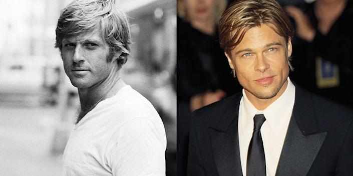 <p>From their floppy blonde hair to their chiseled jawline, it's easy to see why Brad Pitt and Robert Redford were the heartthrobs of their respective generations.</p>