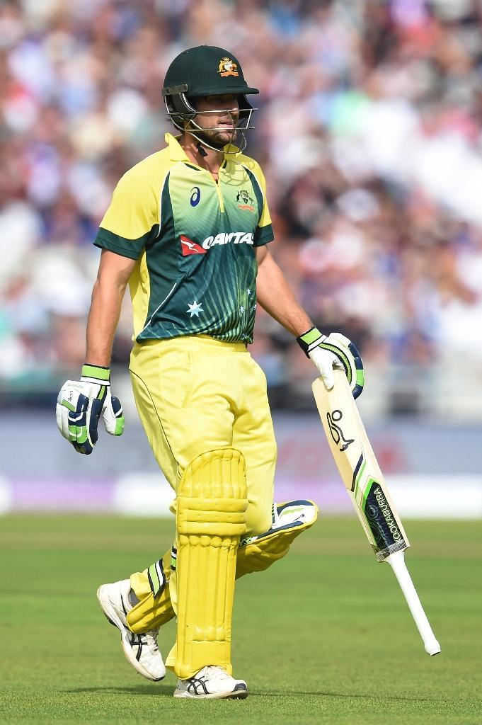 Australia's Joe Burns leaves the field after losing his wicket during their ODI match against England, at Old Trafford in Manchester, north-west England, on September 13, 2015 (AFP Photo/Paul Ellis)