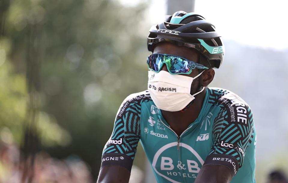 Team Vital Concept Cycling Club rider Frances Kevin Reza attends the start of the 21st and last stage of the 107th edition of the Tour de France cycling race 122 km between ManteslaJolie and Champs Elysees Paris on September 20 2020 Photo by KENZO TRIBOUILLARD  AFP Photo by KENZO TRIBOUILLARDAFP via Getty Images