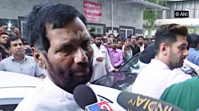 LJP MP Ram Chandra Paswan, 57, had suffered a massive heart attack on Thursday and was admitted to the hospital where he passed away on Sunday.