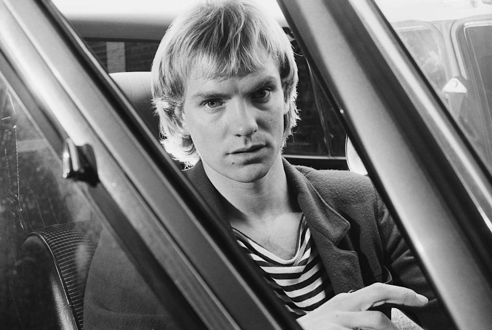 <p>Here he is as the lead singer for The Police. </p>