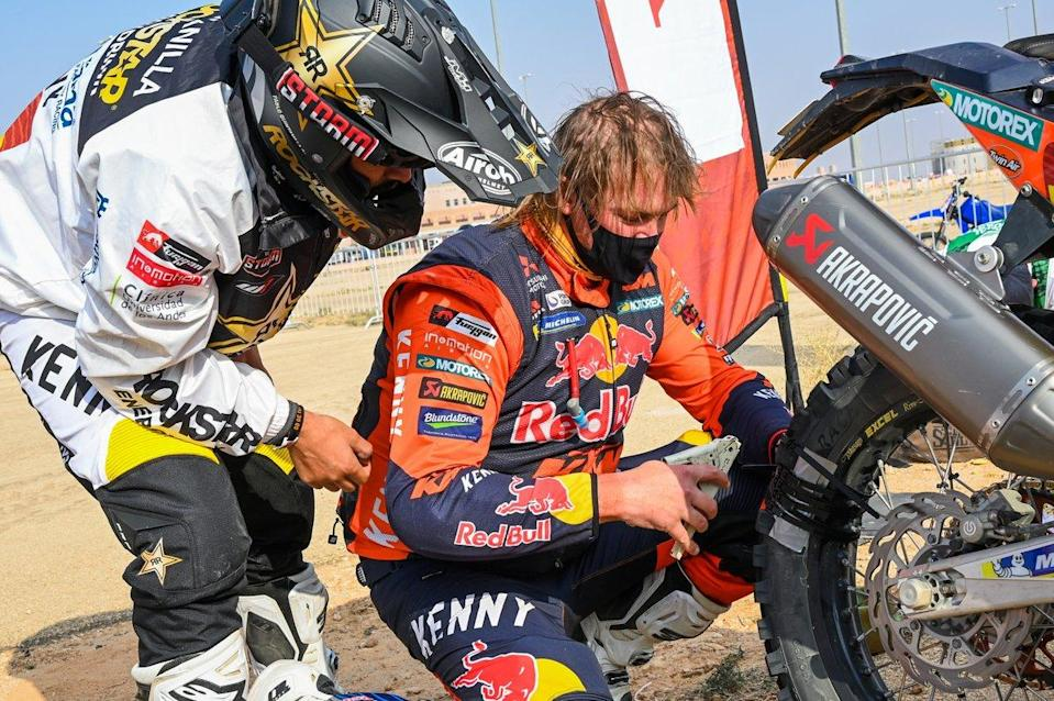 "#2 Rockstar Energy Husqvarna Factory Racing: Pablo Quintanilla, #3 Red Bull KTM Factory Racing: Toby Price<span class=""copyright"">A.S.O. </span>"