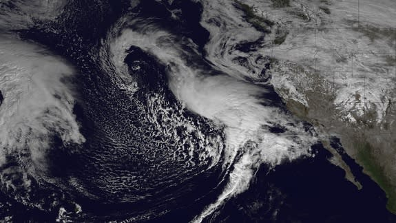 Storms Bringing Needed Rains to California Seen From Space