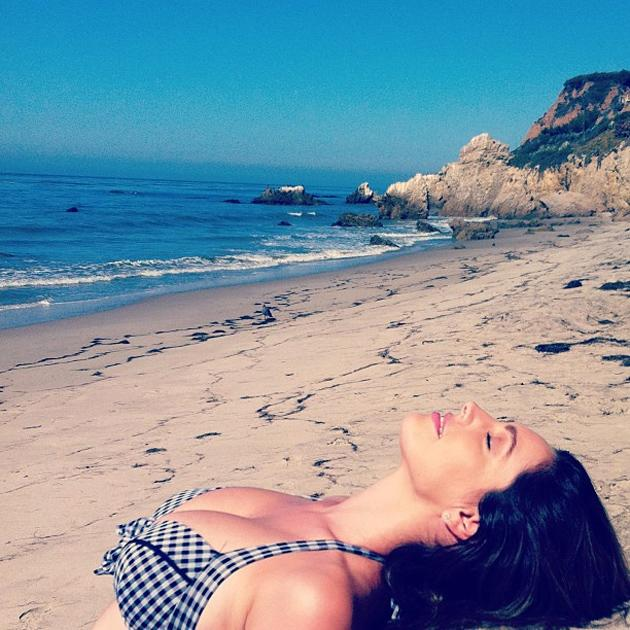 Celebrity photos: Another week, another holiday for Kelly Brook. She made us green with envy by tweeting this photo of herself soaking up the sun on the beach.