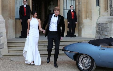 The Duke and Duchess changed for their evening reception at Frogmore House - Credit: PA