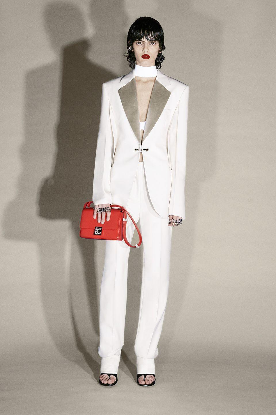 """<p>""""Ultimately, what I am trying to do in the Givenchy collections is to reflect today's world,"""" said Matthew M. Williams, the brand's newly appointed creative director. """"I appreciate a certain material experimentation and an intense contrast in clothing that could only be achieved and exist now. At the same time, we embrace tradition, the techniques of the salon and timelessness; these distinct elements are not mutually exclusive. The clothing is not disposable or dictatorial, instead we want it to become central to a person's sense of their own style, and build each season. It's an idea of a more personal luxury, of simultaneous formality and informality, construction and comfort; it's the luxury of people wearing clothes, not clothes wearing people.""""</p>"""