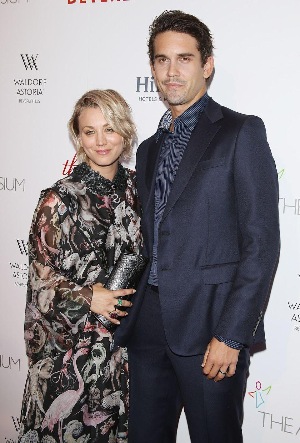 """<p><em>Big Bang Theory</em> star Kaley married tennis pro Ryan in 2013 after only three months of dating. The marriage lasted 21 months, and it sounds like it didn't end on the best of terms. <a href=""""https://www.cosmopolitan.com/entertainment/a19631902/kaley-cuoco-may-2018/"""" rel=""""nofollow noopener"""" target=""""_blank"""" data-ylk=""""slk:Kaley opened up about the marriage to"""" class=""""link rapid-noclick-resp"""">Kaley opened up about the marriage to </a><em><a href=""""https://www.cosmopolitan.com/entertainment/a19631902/kaley-cuoco-may-2018/"""" rel=""""nofollow noopener"""" target=""""_blank"""" data-ylk=""""slk:Cosmopolitan"""" class=""""link rapid-noclick-resp"""">Cosmopolitan</a></em>, saying, """"I married someone the first time who completely changed. The person I ended up with was not the person I originally met. And that wasn't my fault—that was his.""""</p>"""