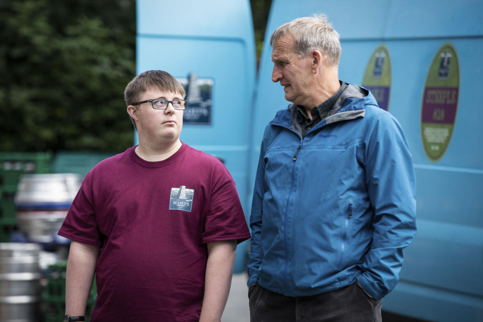 Ralph (LEON HARROP), Maurice Scott (CHRISTOPHER ECCLESTON) - (Fifty Fathoms - Photographer: Rachel Joseph)