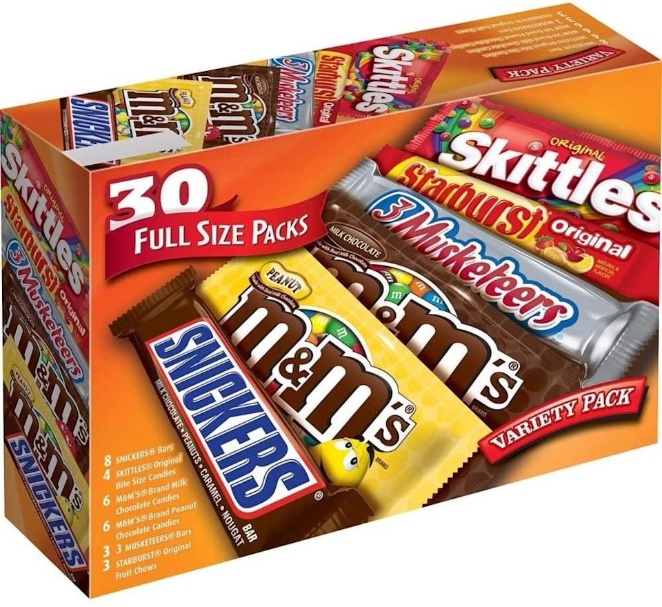 <p><span>Mars Full-Size Chocolate Candy Variety Mix</span> ($23, originally $27)</p>