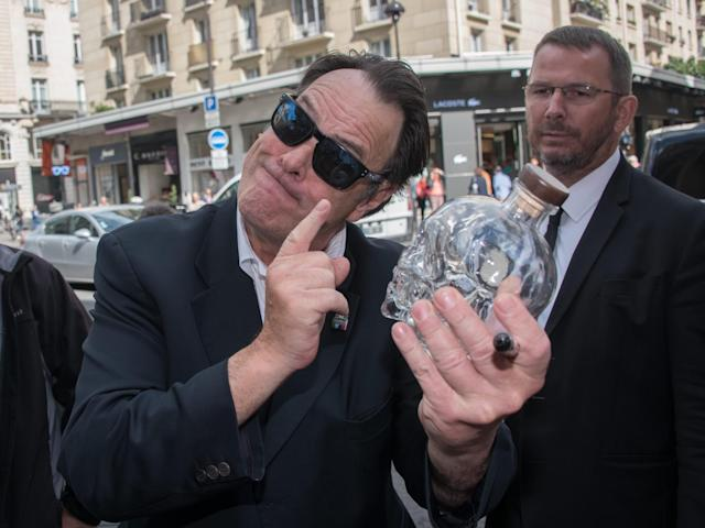 <p>Canadian actor Dan Aykroyd launched his Crystal Head Vodka in North America in 2009, and it was promptly banned from being sold in Ontario due to its lifelike human skull glass packaging. Made with Newfoundland water and Canadian wheat and corn, the vodka was allowed back on Ontario liquor store shelves in October 2011. (Canadian Press) </p>