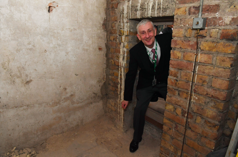 Secret House of Commons doorway from 17th century discovered during restoration works