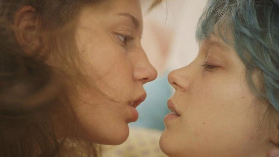 """<p><strong>Blue Is the Warmest Color</strong> is a sexual coming-of-age story about two teen girls falling in love. With its NC-17 rating, it's no surprise there are some very graphic lesbian sex scenes.</p> <p><a href=""""https://www.netflix.com/title/70275600"""" class=""""link rapid-noclick-resp"""" rel=""""nofollow noopener"""" target=""""_blank"""" data-ylk=""""slk:Watch Blue Is the Warmest Color on Netflix now."""">Watch <strong>Blue Is the Warmest Color</strong> on Netflix now.</a></p>"""