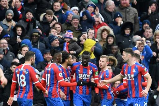 Crystal Palace players celebrated after the equaliser against Arsenal