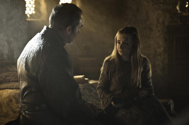 """Stephen Dillane and Kerry Ingram in the """"Game of Thrones"""" Season 3 episode, """"Kissed by Fire."""""""