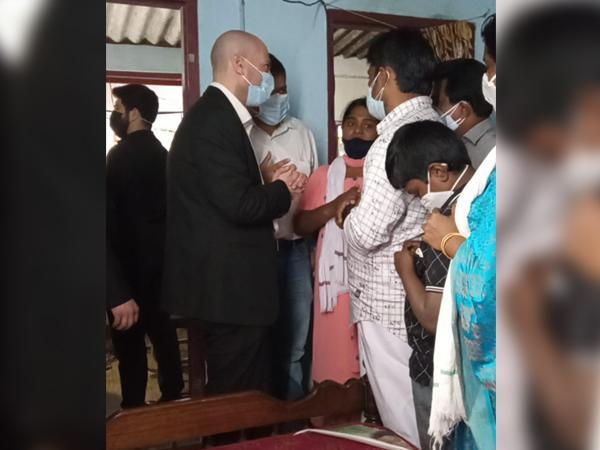 Jonathan Zadka, Israeli Consul General to South India on Sunday paid a visit to visit to the family of Kerala woman Soumya Santhosh.