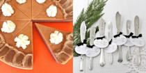 """<p>If you're <a href=""""https://www.housebeautiful.com/entertaining/holidays-celebrations/a34493976/how-to-host-parties-covid/"""" rel=""""nofollow noopener"""" target=""""_blank"""" data-ylk=""""slk:attending a Thanksgiving dinner"""" class=""""link rapid-noclick-resp"""">attending a Thanksgiving dinner</a> this year, be it a formal family gathering or a more casual Friendsgiving, you don't want to show up empty-handed—especially when you know your host has been cooking, preparing for guests, and taking extra time to follow safety precautions on top of it all. Little touches, like festive wine labels and personalized tags, can upgrade an informal gift, while things like hand-stamped serving utensils and autumnal cookware work for a fancier occasion. </p><p>And if you can't be with your loved ones for the holiday this year, sending a gift is a great way to remind them you're thinking of—and thankful for—them. Wherever you're going or whoever you're shopping for, you're sure to find the perfect gift on this list. Oh, and we<em> totally</em> won't blame you if you order some of these for yourself to <a href=""""https://www.housebeautiful.com/entertaining/holidays-celebrations/g2684/thanksgiving-centerpieces/"""" rel=""""nofollow noopener"""" target=""""_blank"""" data-ylk=""""slk:adorn your own Thanksgiving table"""" class=""""link rapid-noclick-resp"""">adorn your own Thanksgiving table</a>, either—even if it's just to make a quiet celebration at home feel more special. </p>"""