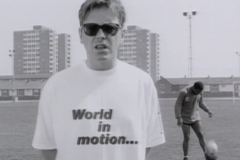 New Order's video for 'World in Motion'